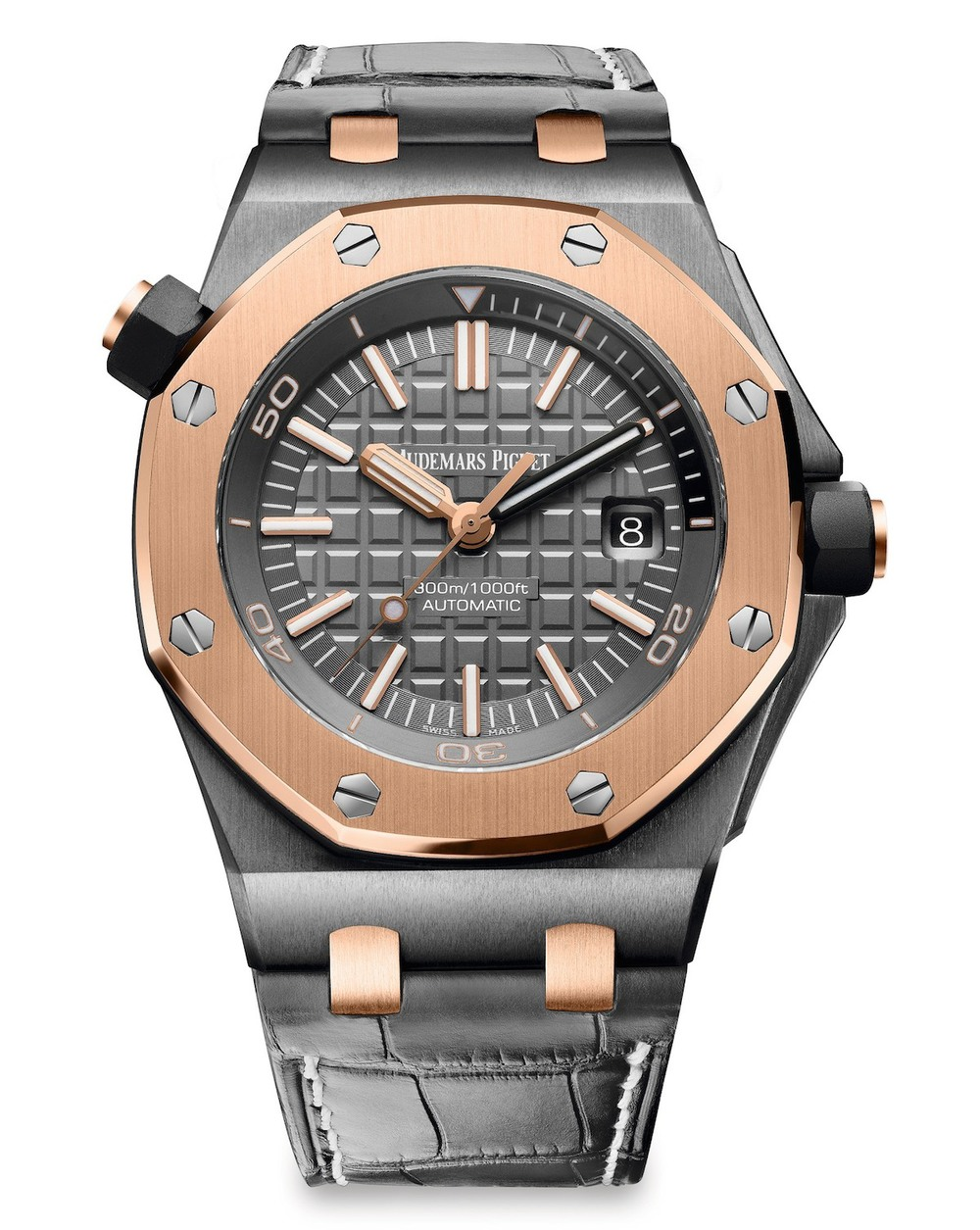 audemars-piguet-royal-oak-offshore-diver-qe-ii-slate-grey-dial-automatic-mens-18-carat-pink-gold-watch-15709trooa005cr01-15709trooa005cr01