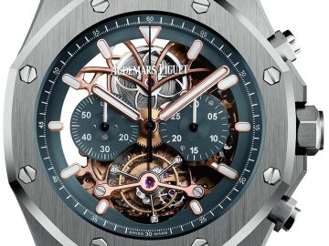 Audemars Piguet Royal Oak Tourbillon Chronograph Openworked In Platinum